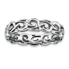 Sterling Silver Stackable Expressions Polished Ring QSK130