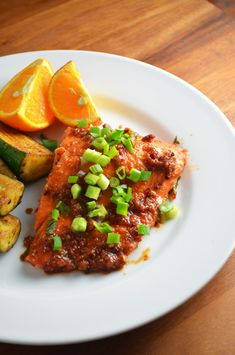 Chili Garlic BBQ Salmon. But since I don't like fish maybe I'll try chicken