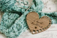 I Heart Knitting  Stitching  Knitting Gauge & by bijoulovely
