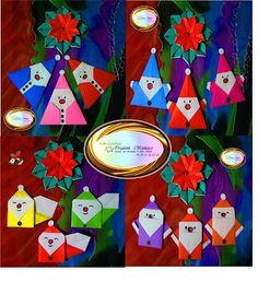 Origami Maniacs: Origami Santa Claus 1 and 2