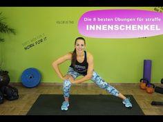 Die 8 besten Übungen für straffe Innenschenkel / Anti - Cellulite / Training Zuhause - YouTube