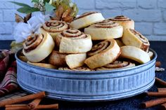 Made without yeast, Newfoundland Style Cinnamon Rolls are less like bread and more like a biscuit. No icing needed here; perfection doesn't need to be dressed up! Newfoundland Recipes, Best Cinnamon Rolls, Instant Pot Dinner Recipes, Cooking Recipes, Bread Recipes, Baked Donuts, Food Shows, Afternoon Snacks, Good Food