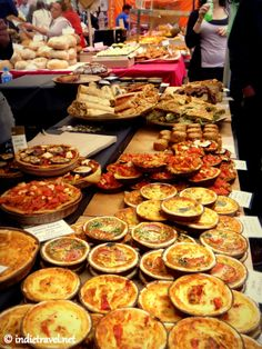 One of the yummy food stalls of Portobello Road Market, London.