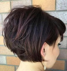 Tousled Short Bob With Bangs~Oh my goodness, when I go back to shorter hair this will be it! So cute, but classy also!