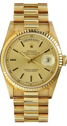 25945253d01 18K solid gold Rolex President. Preowned