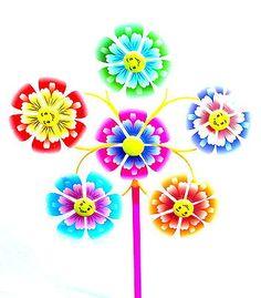Spectacular Details about Sch ne Windm hle cm Windspiel Blume Dekoration Garten Balkon Terrasse Windrad