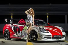 Sapphire Ng: Toyota MRS SportsCar photoshoot - Behind the Scenes - Night Shoot