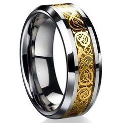 The Ring of the Nibelungs Richard Wagner Der Ring Des Nibelungen Titanium Steel Ring Men's Jewelry Vintage Ring Arthur Rackham
