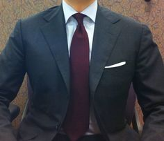 navy suit with burgundy tie - Google Search