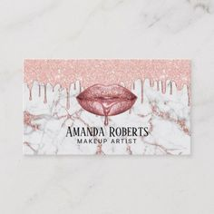 Shop Rose Gold Drips Lips Marble Makeup Artist Salon Business Card created by cardfactory. Personalize it with photos & text or purchase as is! womens Makeup Looks womens Makeup Dramatic womens Makeup Smokey Eye womens Makeup Tips Makeup Artist Cards, Makeup Artist Logo, Freelance Makeup Artist, Salon Business Cards, Makeup Artist Business Cards, Business Card Design, Business Ideas, Makeup Salon, Makeup Studio