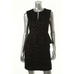 DIANE VON FURSTENBERG Womens Delian Lace Peplum Cocktail Dress
