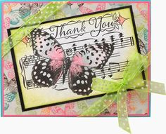 Stamping & Scrapping in California: Butterfly Collage