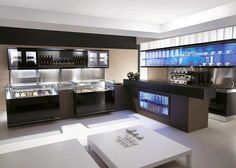 frozen dessert, bar, pastry, refrigerated cabinet, store design and build