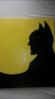 20x24 batman/penguin canvas by ADOcrafts on Etsy, $60.00