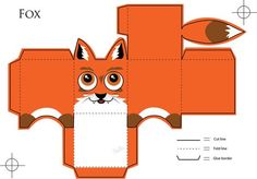 >//u//> My idea was to make origami/papercraft animals. I had to make a fox. :I You can see the 'rules' right below. He is free to use . The fo. Fox Crafts, Animal Crafts, Craft Packaging, Paper Animals, Paper Crafts Origami, Fox Pattern, Baby Kind, Diy Box, Paper Models
