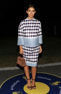 Miroslava Duma Photos: Polo Ralph Lauren - Front Row - Mercedes-Benz Fashion Week Spring 2015 *Where's her waist?*