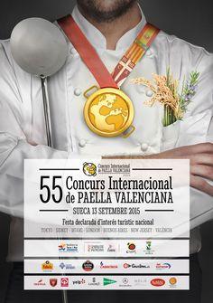 Cartel oficial del 55 Concurs Internacional de Paella Valenciana de Sueca 2015