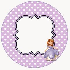 First Birthday Parties, First Birthdays, Princess Sofia Party, Sofia The First, Borders And Frames, Purple Wallpaper, Welcome Baby, Party Printables, Diy Art