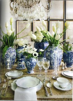 rough luxe: Christmas in Blue and White