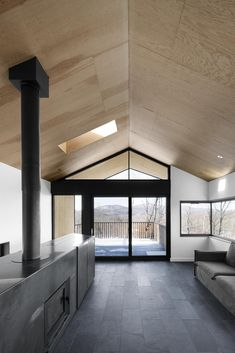 Bolton Residence is a beautiful contemporary country house designed by architecture studio NatureHumaine, located in Bolton East, Quebec, Canada.