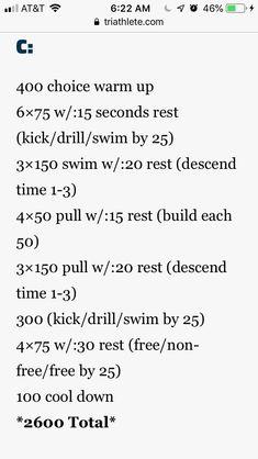 2600 Masters Swim Workouts, Swim Lessons, Drill, Kicks, Swimming, Swim, Hole Punch, Drills, Drill Press