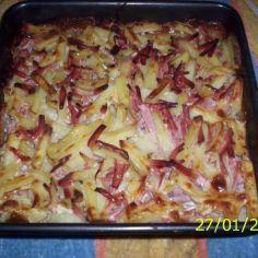 Kinkkukiusaus - Kotikokki.net - reseptit Baked Lasagna, Ham Casserole, Kermit, Hawaiian Pizza, Easy Cooking, Cabbage, Baking, Vegetables, Ethnic Recipes
