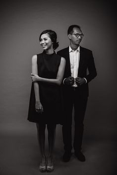 Seems a bit dark for me...but it's matching up with the theme we want to achieve. A classy black and white formal look. #wedding #photography #prewedding #studiophoto #formaloutfit #blackandwhitephoto