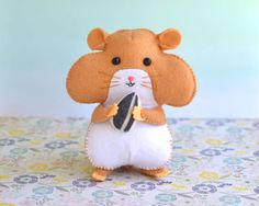 Felt Hamster PDF Patterns And Tutorials by PinkieAndMe on Etsy Felt Ornaments Patterns, Felt Patterns, Pdf Patterns, Cute Crafts, Felt Crafts, Hamsters, Rodents, Handmade Soft Toys, Hand Sewing Projects