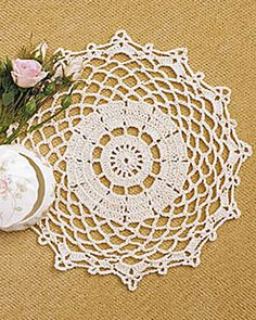 A doily crochet pattern like this one is so elegant you won't even want to use it. Set it on top any table and just look at how beautiful it is. A size U.S. 2 crochet hook is used.