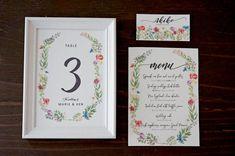 フローラルデザイン無料配布中!花嫁DIYで結婚式ペーパーアイテムをトータルコーディネート / ペーパーアイテム 席札 春ウェディング 装飾アイテム / WEDDING   ARCH DAYS