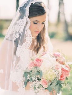 The Ultimate Guide to Bridal Veils: The Mantilla Veil | Bridal Musings Wedding Blog