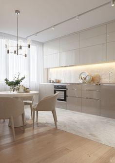Trendy home kitchen white interior design Ideas Kitchen Room Design, Best Kitchen Designs, Modern Kitchen Design, Home Decor Kitchen, Interior Design Kitchen, Home Design, Home Kitchens, Kitchen Ideas, Modern Design