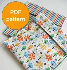 PDF Sewing Pattern Picnic Pouch Reusable Sandwhich bags - need to get fabric ASAP