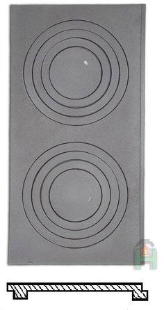 Płyta żeliwna kuchenna P5 630x325 HALMAT