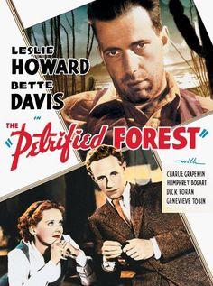 Humphrey Bogart, Bette Davis and Leslie Howard in Taslasmis orman (1936)