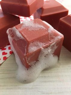 Scarlet Mica Powder Soap Tutorial & Recipe -Once you start making your own personal care items, you will want to continue to do it. It's super convenient and frugal. You purchase most ingredients in bulk and can make several batches for the price of what you would pay for a replacement.