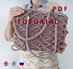 0008e26641c DIY PDF Crochet Pattern Tutorial, Crochet tote bag tutorial, Summer Women  bag tutorial,