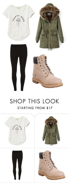 """""""Outfit 1160"""" by that-girl-j ❤ liked on Polyvore featuring Hollister Co., Dorothy Perkins and Timberland"""