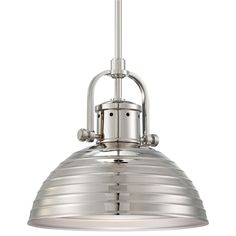 Minka Lavery 2247-613 1 Light Polished Nickel Pendant