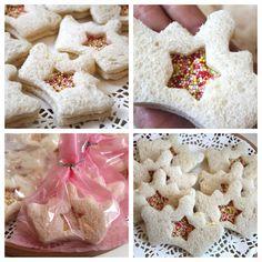 B U B B L E G A R M - princess birthday food ideas. Crown sandwiches...