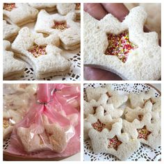 B U B B L E G A R M - princess birthday food ideas. Crown sandwiches...