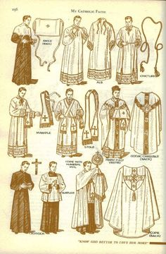 vestments and their names (at least a very basic list)