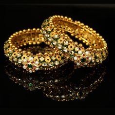 Gold Bangle Enamel