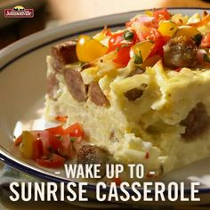 Eggs and sausage together recipe for the Holidays. Yummy yummy!