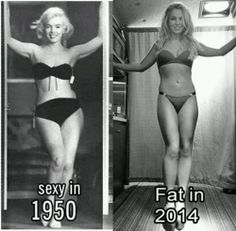 """Hate the stereotype of what's fat both are beautiful Marilyn Monroe & Britney Spears>>>> I hate the fact that you really used """"fat"""" as an insult. Health Images, Memes In Real Life, Mode Chic, New Memes, Body Love, Body Image, Britney Spears, Female Bodies, People"""