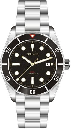 19bfdb2b900 New product Duplicate Borealis Bull Shark Automatic Diver Watch Date Miyota  9015 Ceramic Black Bezel Black