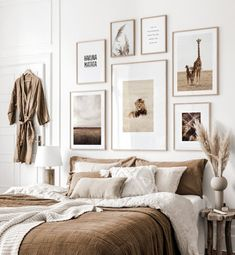 Gallery Wall Inspiration - Shop your Gallery Wall Gallery Wall Bedroom, Room Ideas Bedroom, Cozy Bedroom, Bedroom Wall, Diy Bedroom Decor, Bedroom Artwork, Aesthetic Bedroom, My New Room, Cheap Home Decor