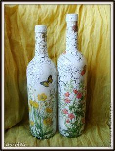 Itens de decoração Decoupage cracelures guardanapo favorito e lacy craquelure garrafas de vidro Guardanapos foto 1