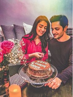 """Ayeza Khan celebrated her Birthday with her family.Ayeza Khan Birthday Pics proves famous quote """"beauty lies in the simplicity"""". Couple Photoshoot Poses, Couple Photography Poses, Couple Posing, Couple Pictures, Photoshoot Themes, Men Photography, Friend Pictures, Couple Shoot, Cute Birthday Pictures"""