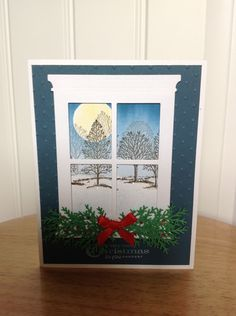 Stampin Up Christmas card peaceful night.